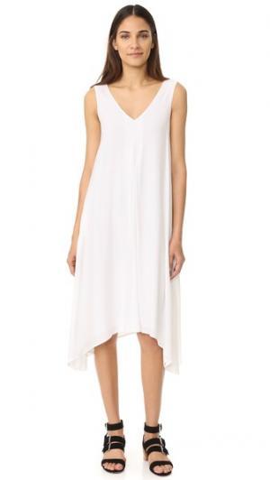 Платье с двойным V-образным вырезом James Perse. Цвет: белый