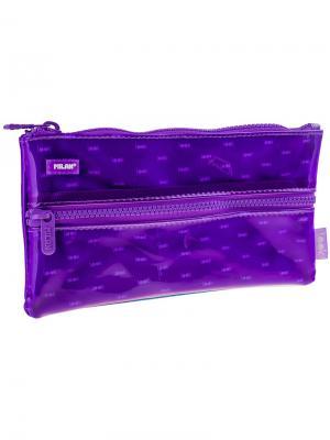 Пенал-косметичка 225*125*15 Look, 2 отделения, фиолетовый, ПВХ Milan. Цвет: фиолетовый
