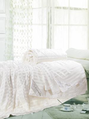 Одеяло натур. шёлк в шёлковом чехле, 1,5-спальное 145х205, всесезонное, вес 1160 гр. Asabella. Цвет: белый