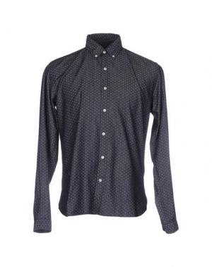 Джинсовая рубашка OLIVER SPENCER. Цвет: синий