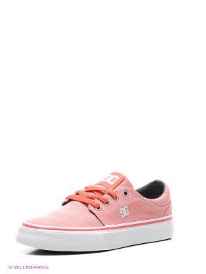 Кеды DC Shoes. Цвет: коралловый
