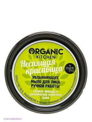 Мыло д/лица увлажн. ручной работы Неспящая красавица100мл Organic Shop. Цвет: черный