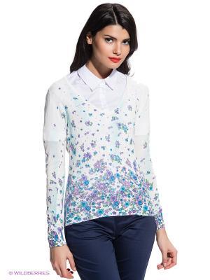 Пуловер FRACOMINA. Цвет: белый