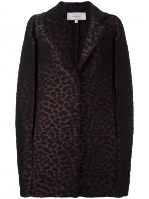Пальто с рукавами-кап Borbonese. Цвет: коричневый