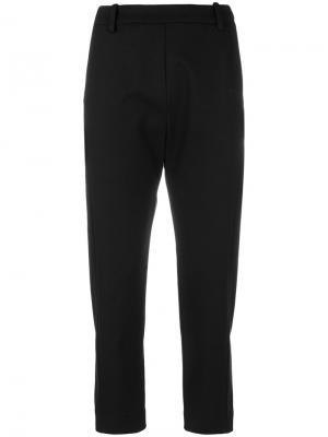 Укороченные зауженные брюки Ilaria Nistri. Цвет: чёрный