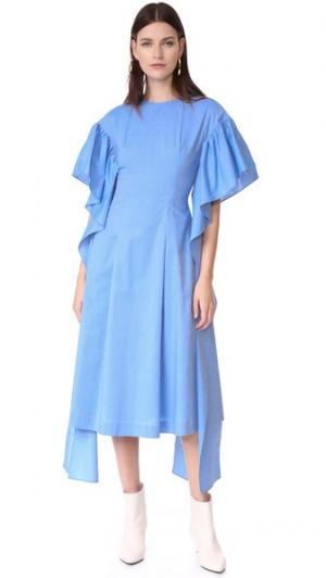 Платье Grace Rejina Pyo. Цвет: шамбре