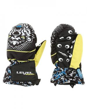 Лыжные рукавицы  Animal level. Цвет: черный с желтым