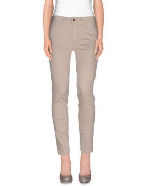 Повседневные брюки REBEL QUEEN. Цвет: светло-серый
