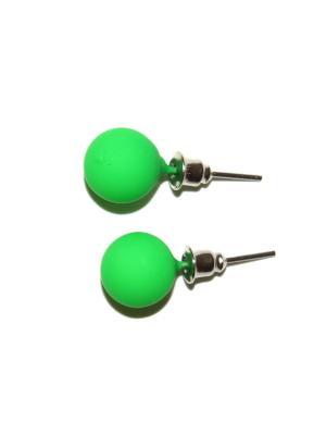Матовые серьги Lola. Цвет: зеленый