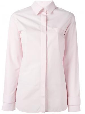 Классическая рубашка Courrèges. Цвет: розовый и фиолетовый