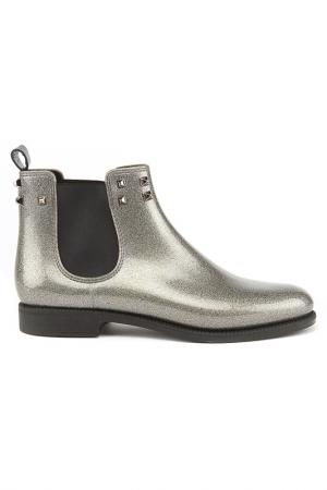 Ботинки MENGHI SHOES. Цвет: серебристый металлик