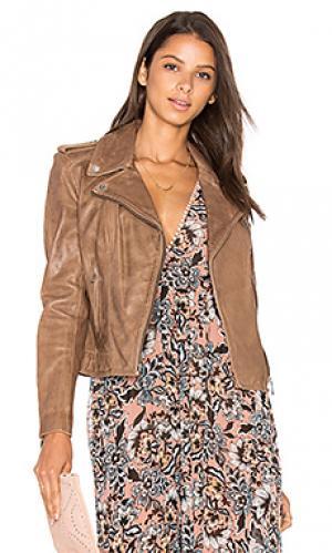 Куртка donna LAMARQUE. Цвет: серо-коричневый