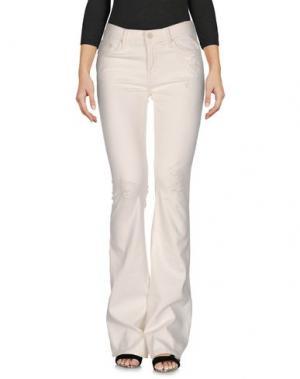 Джинсовые брюки MOTHER. Цвет: белый