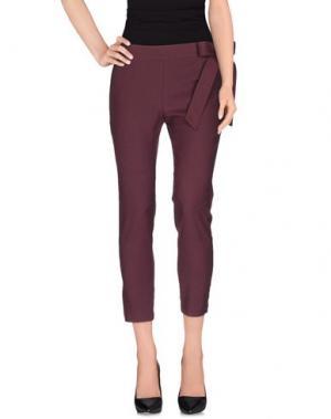 Повседневные брюки JUCCA. Цвет: баклажанный