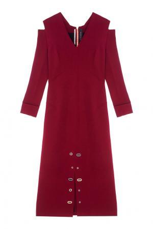 Платье с V-образным вырезом Duncan Roland Mouret. Цвет: красный