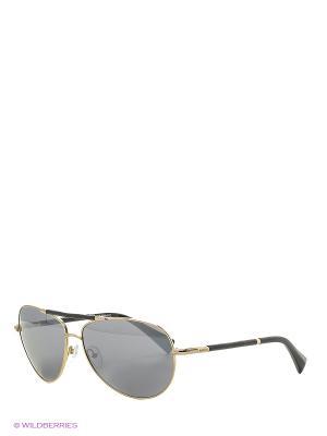 Солнцезащитные очки BLD 1637 401 Baldinini. Цвет: темно-коричневый, золотистый