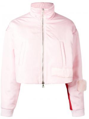 Funnel neck cropped jacket Caitlin Price. Цвет: розовый и фиолетовый