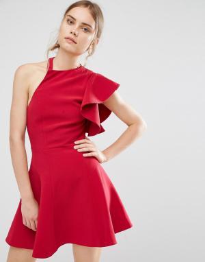 C/meo Collective Платье Heart Commands. Цвет: красный