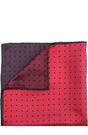 Шелковый платок с принтом Lanvin. Цвет: бордовый