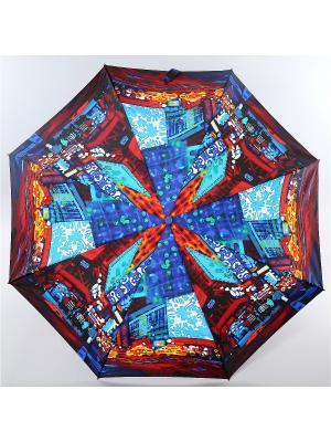 Зонт Zest, 3 слож, ПолнАвто, П-Э Zest. Цвет: лазурный, бордовый, голубой