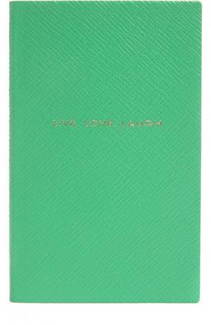 Записная книжка Smythson. Цвет: зеленый