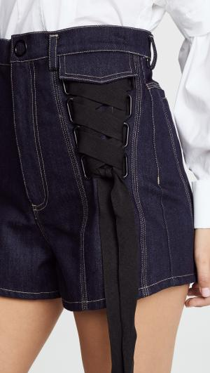 Tenby Denim Shorts Acler