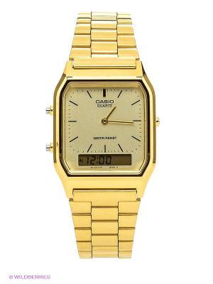 Часы Casio AQ-230GA-9D. Цвет: золотистый, светло-желтый