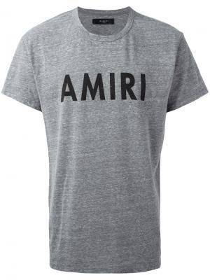 Футболка с принтом логотипа Amiri. Цвет: серый