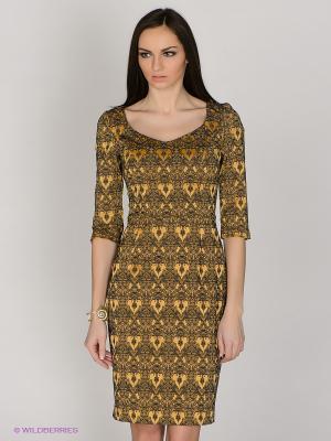 Платье Capriz. Цвет: желтый, черный