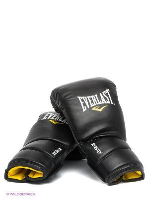 Перчатки тренировочные Protex2 Everlast. Цвет: черный