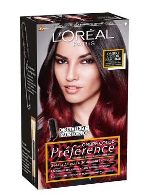 Стойкая краска для волос Preference Color Ombres, оттенок 6.66, Красный L'Oreal Paris. Цвет: красный