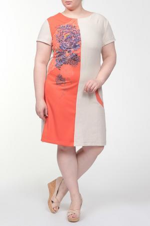 Платье QNEEL Q'NEEL. Цвет: оранжевый