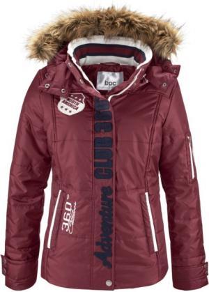 Функциональная стеганая куртка (кленово-красный) bonprix. Цвет: кленово-красный