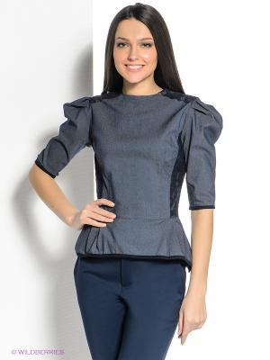 Блузка SUGARLIFE. Цвет: темно-синий