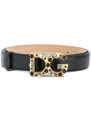 Ремень с декорированной пряжкой Dolce & Gabbana. Цвет: чёрный