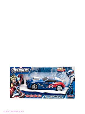 Радиоуправляемая игрушка Авто Капитан Америка Majorette. Цвет: синий