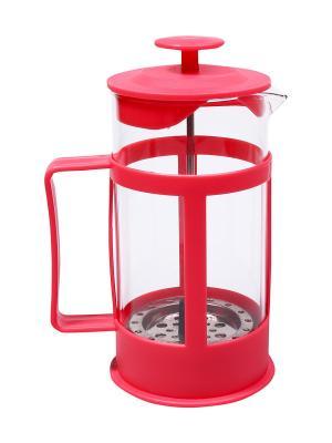 Чайник заварочный/Френчпресс,  0,35 л. Migura. Цвет: красный
