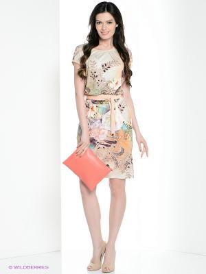 Платье Vaide. Цвет: персиковый, кремовый, светло-зеленый