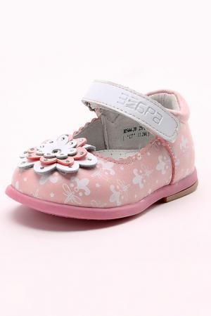 Туфли малодетские Зебра. Цвет: розовый