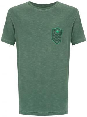 Chest print T-shirt Osklen. Цвет: зелёный