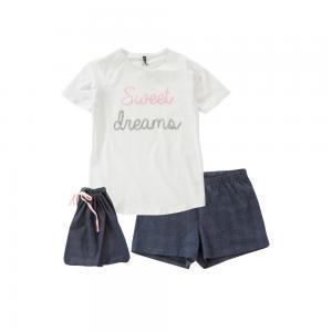 Пижама, 100% хлопка ELLOS. Цвет: синий/ белый