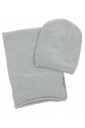 Комплект Armani Jeans. Цвет: серый