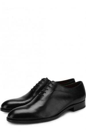 Классические кожаные оксфорды Fratelli Rossetti. Цвет: черный