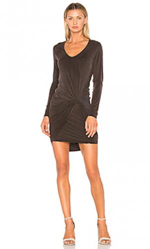 Обтягивающее платье lush YFB CLOTHING. Цвет: черный