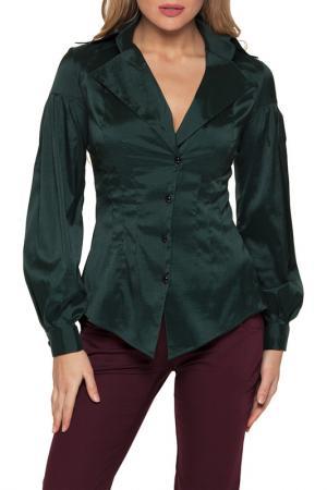 Рубашка Gloss. Цвет: темно-зеленый