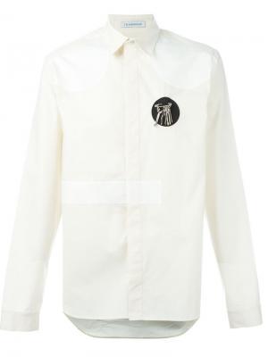 Рубашка с контрастной деталью J.W.Anderson. Цвет: белый