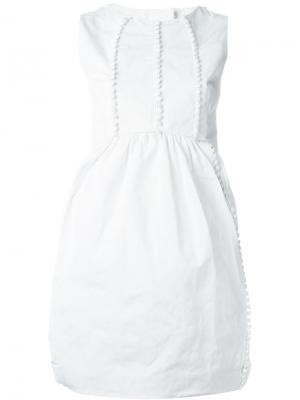 Платье без рукавов с декоративными пуговицами Antonio Berardi. Цвет: белый