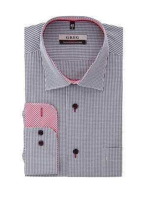 Рубашка GREG. Цвет: синий, красный, белый