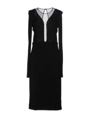 Платье длиной 3/4 GUCCI. Цвет: черный