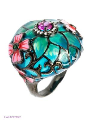Кольцо BALEX. Цвет: зеленый, серебристый, розовый, черный